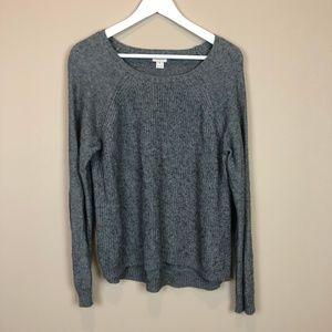 J Crew Gray Long Sleeve Sweater Medium